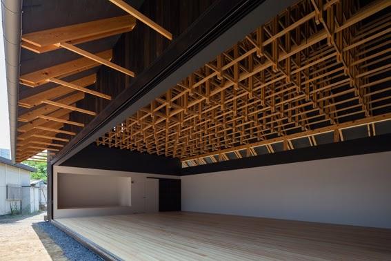 entramado de estructura de madera para techos
