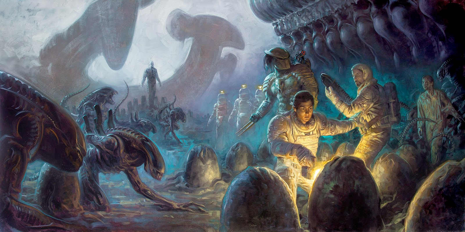 The geeky nerfherder cool art 39 prometheus aliens for Prometheus xenomorph mural