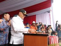 Menhan Ryamizard Launching Kapal Angkut Tank AT-4 Buatan Tenaga Ahli Indonesia