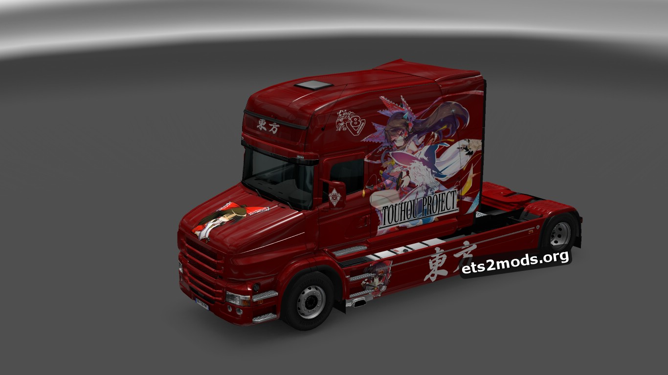 Reimu Touhou Skin for Scania T