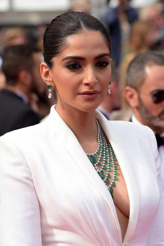 Sonam Kapoor Hot Cleavage