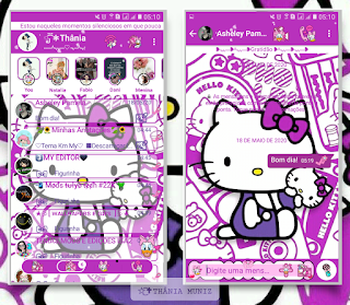 Help Kitty Theme For YOWhatsApp & KM WhatsApp By Thania