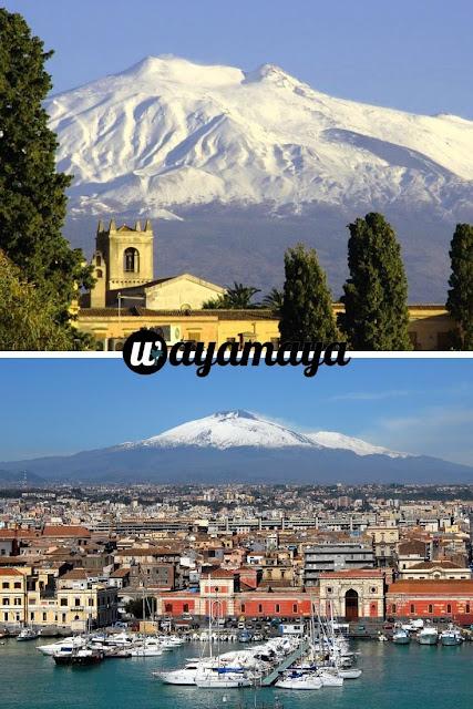 Mount Etna volcano view, Catania | Sicily, Italy | wayamaya