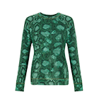 Altuzarra at Target Collection SWEATSHIRT IN GREEN PYTHON PRINT.