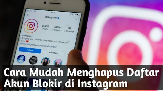 Cara Menghapus Daftar Blokir di Instagram