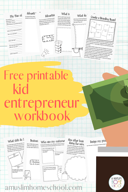 free kid entrepreneur printable workbook