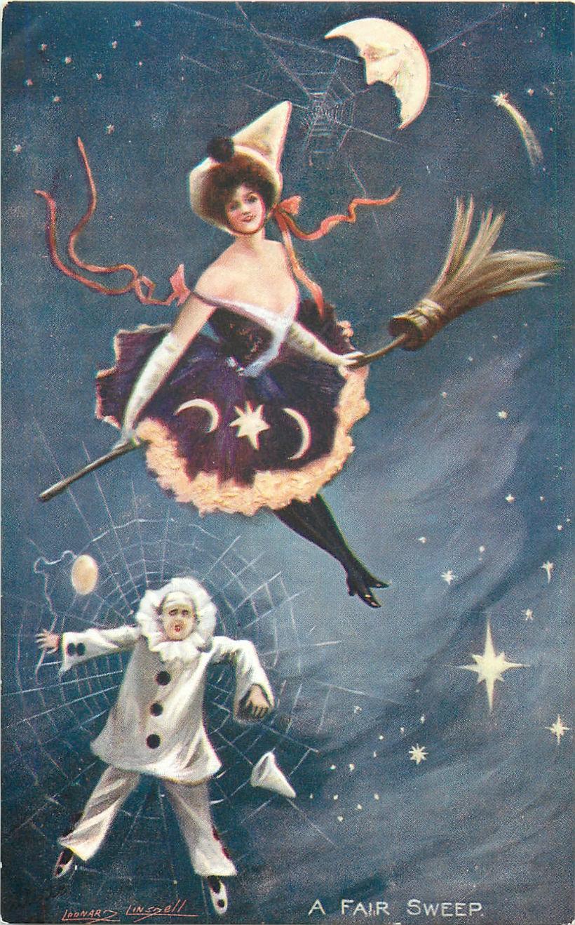 Старинные открытки в честь Хэллоуина - 10