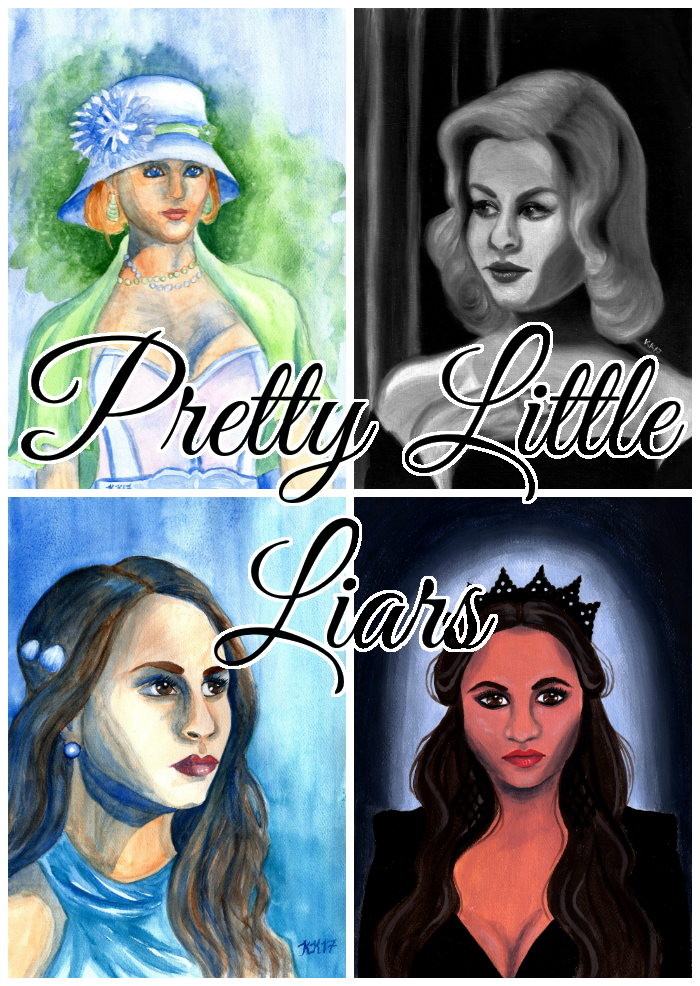 Pretty Little Liars fan art paintings.