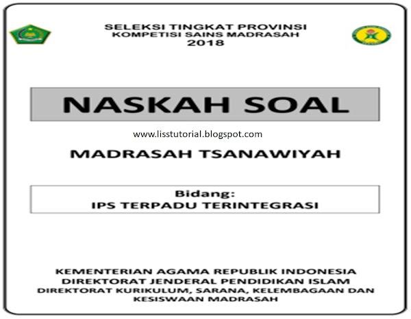 Contoh Soal KSMO IPS MTs Tingkat Provinsi