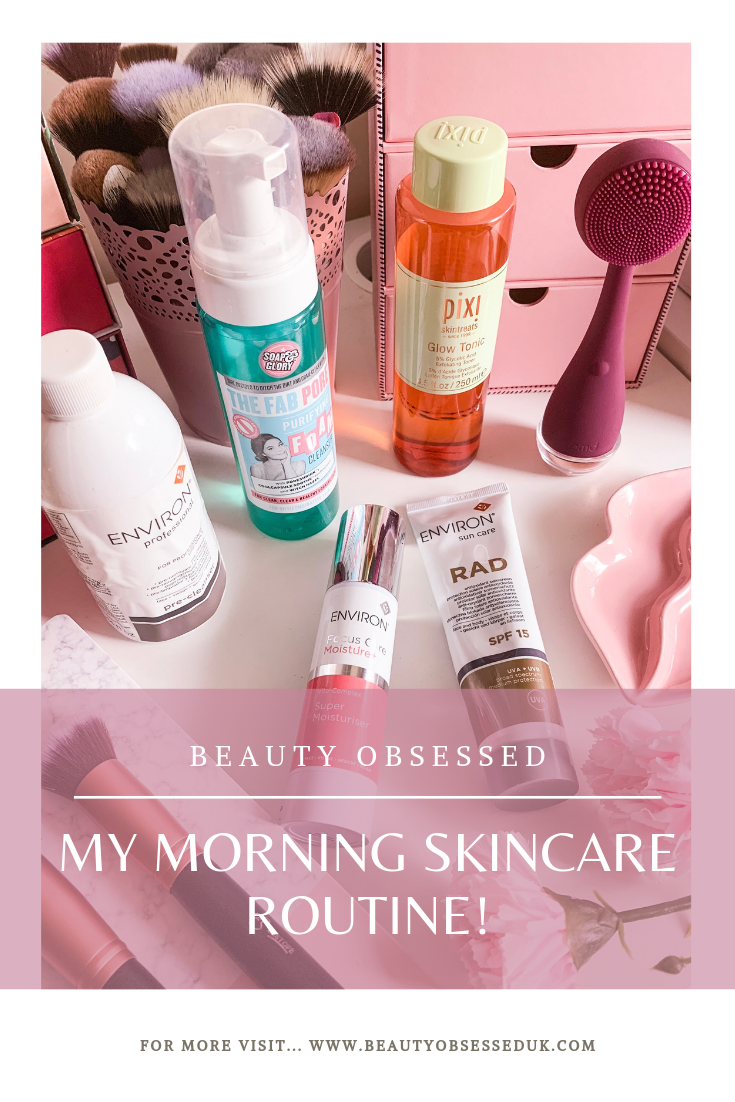 My Morning Skincare Routine Pinterest Graphic