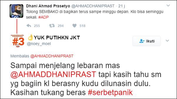 Ahmad Dhani: Tolong Sembako Dibagikan Terus, Kalau Bisa Seminggu Sekali