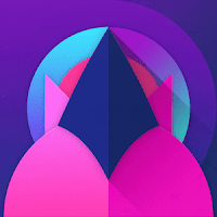 Unicorn dark icon pack APK