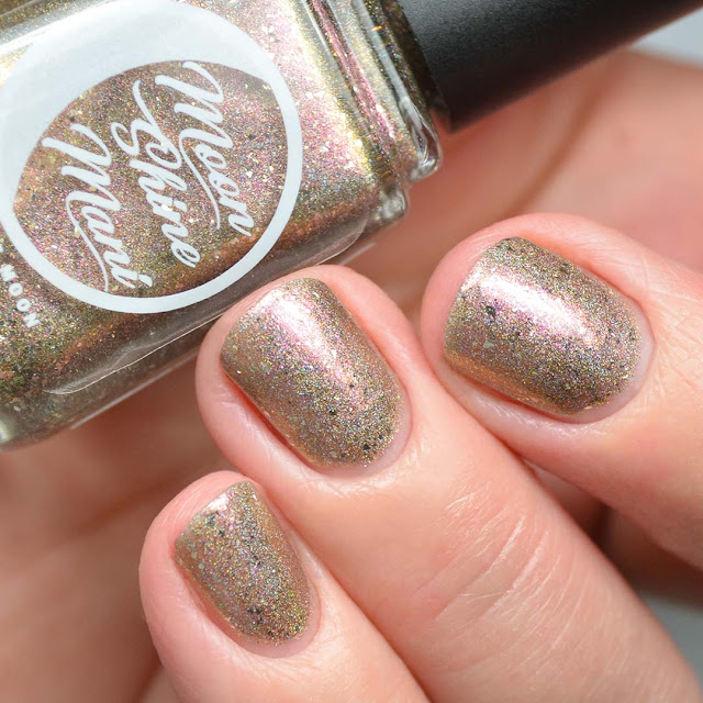holographic champagne nail polish swatch