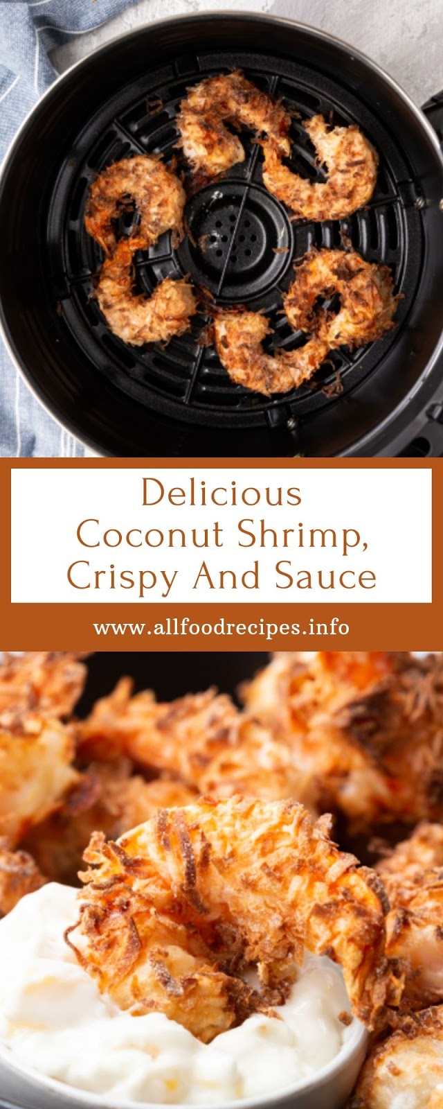 Delicious Coconut Shrimp, Crispy And Sauce