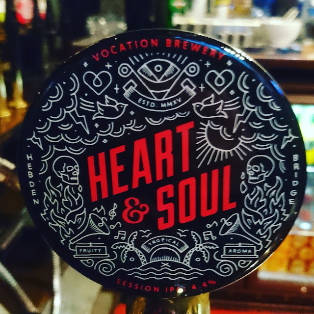 Yorkshire Craft Beer Review: Heart and Soul from Vocation Brewery real ale pump clip