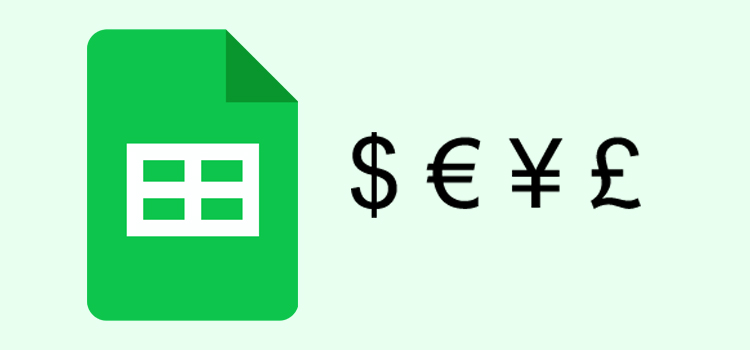 Google Sheets Currency Format
