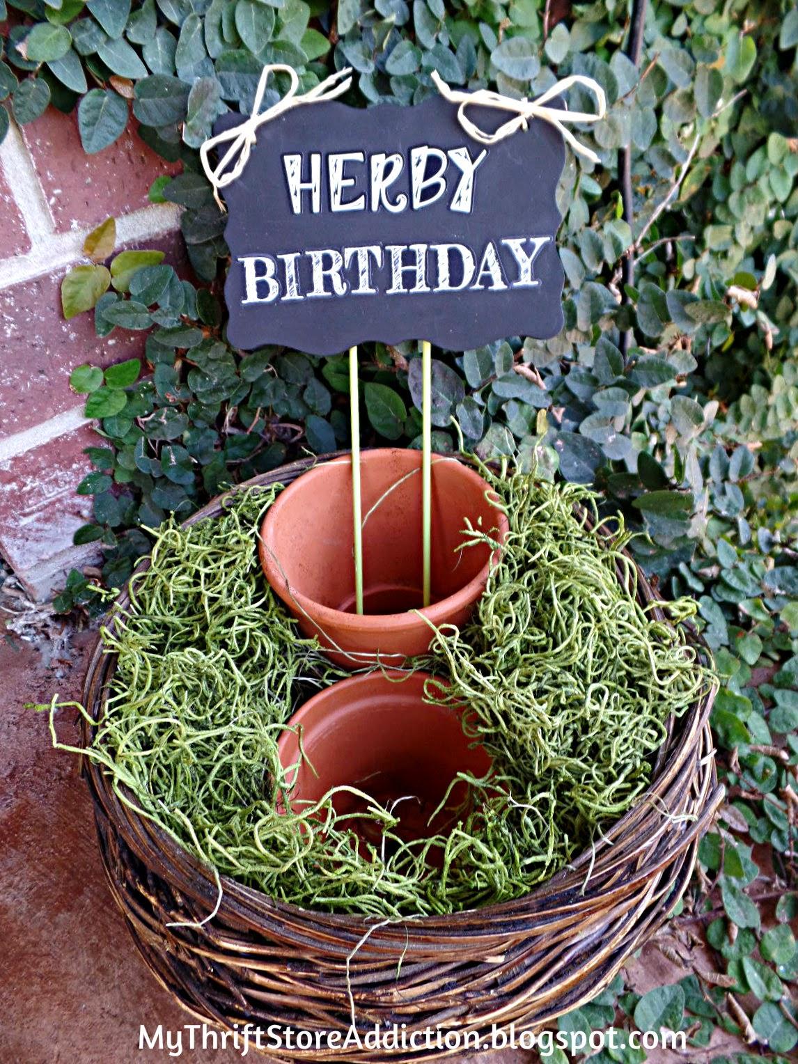 Herb gift basket tutorial
