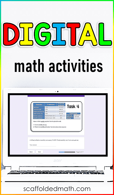 I want to do my part to support your efforts in finding ways to send interactive digital math activities to your students from afar. So I took the last few days or so to update every one of my partner scavenger math activities to Google Slides. Now every Partner Scavenger Hunt math activity has both a paper version and a digital online version for distance learning.