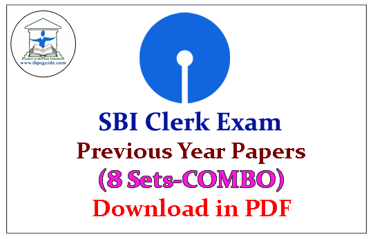 Pdf sbi question papers previous clerk exam