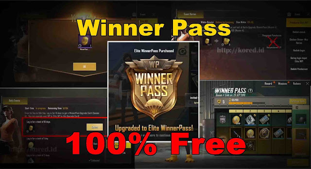 Kartu Upgrade Winner Pass Gratis Pubg Mobile Lite 0.14.0 Season 4