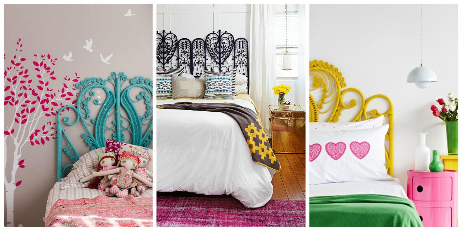 si optamos por cabeceros de mimbre pintados en colores conseguiremos que las habitaciones tengan un aire diferente en funcin del color elegido - Cabeceros Pintados