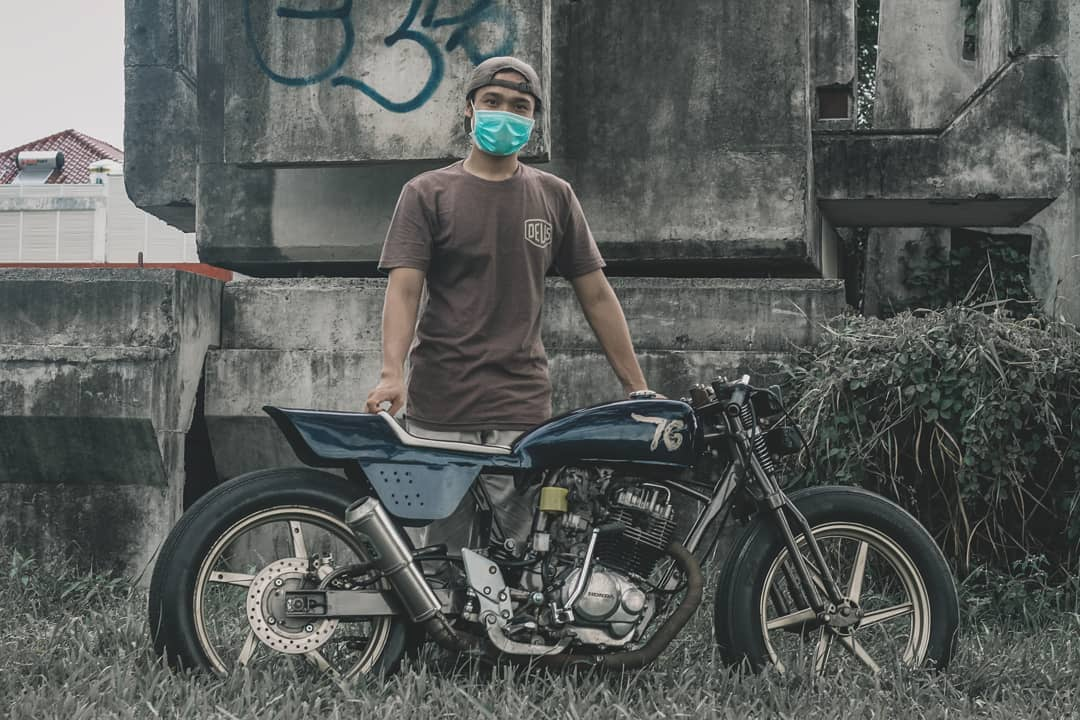 inspirasi modifikasi motor custom flat tracker