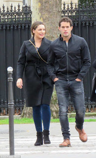 Kelly Brook and her boyfriend