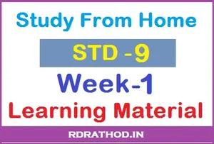 Class 9 Homework pdf Week 1 Download 2020