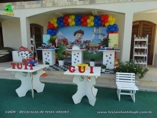 Aniversário Patrulha Canina -Mesa decorada para festa infantil