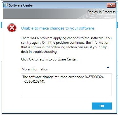 Image result for SCCM Error Code 0x87D00324