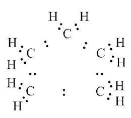 electron dot structure of cyclopentane