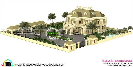 Colonial house rendering view 1