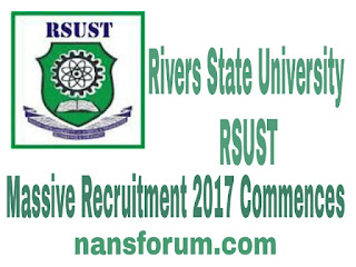 Image of  Massive Recruitment by Rivers State University  RSUST