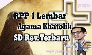 Download RPP 1 Lembar Agama Katolik Kelas 1 Tema Merawat Anggota Tubuh