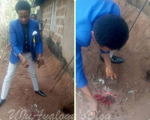 """Pastor Digs Out """"charms"""" In A Family's Compound During Liberation & Deliverance (photos)"""