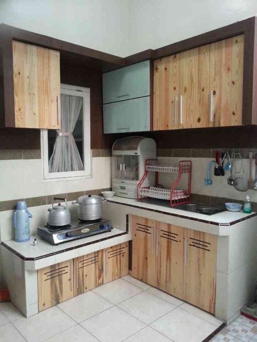 17 Populer Model Kitchen Set Dari Kayu