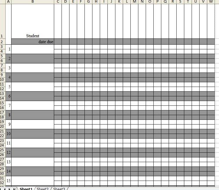 free printable grade sheet template