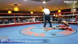 Migs Elorde Easily Defeats his Indonesian Foe via 1st Round KO