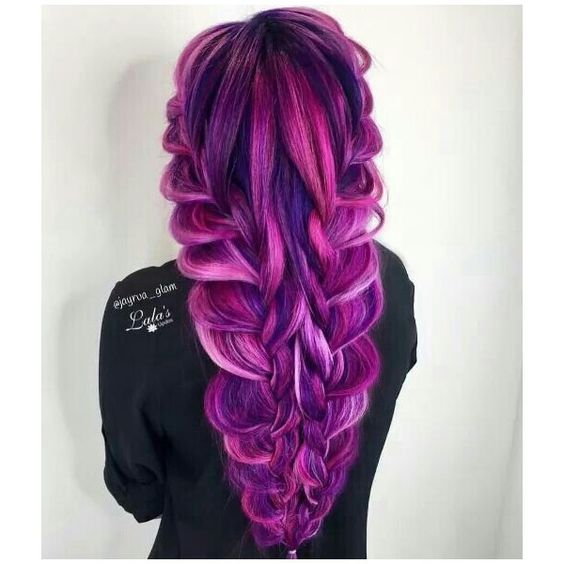 penteados para cabelos coloridos