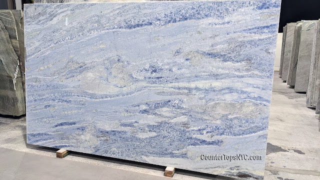 Calcite Azul Extra Marble Slabs NYC 2cm