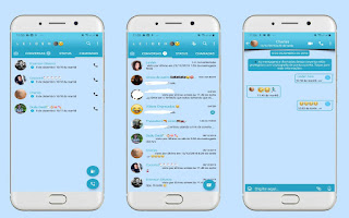Blue Theme For YOWhatsApp & Fouad WhatsApp By Leidiane