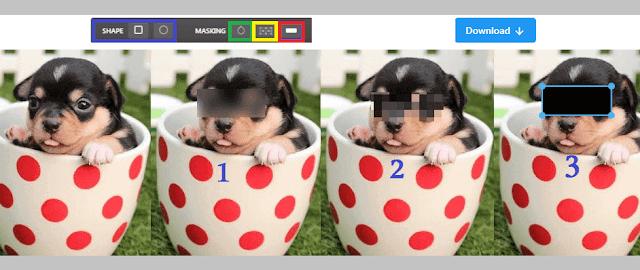 طريقة اخفاء وتغبيش اجزاء الصور اون لاين 2020