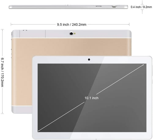Review Padcod 10.1 Inch IPS Android 7.0 Tablet