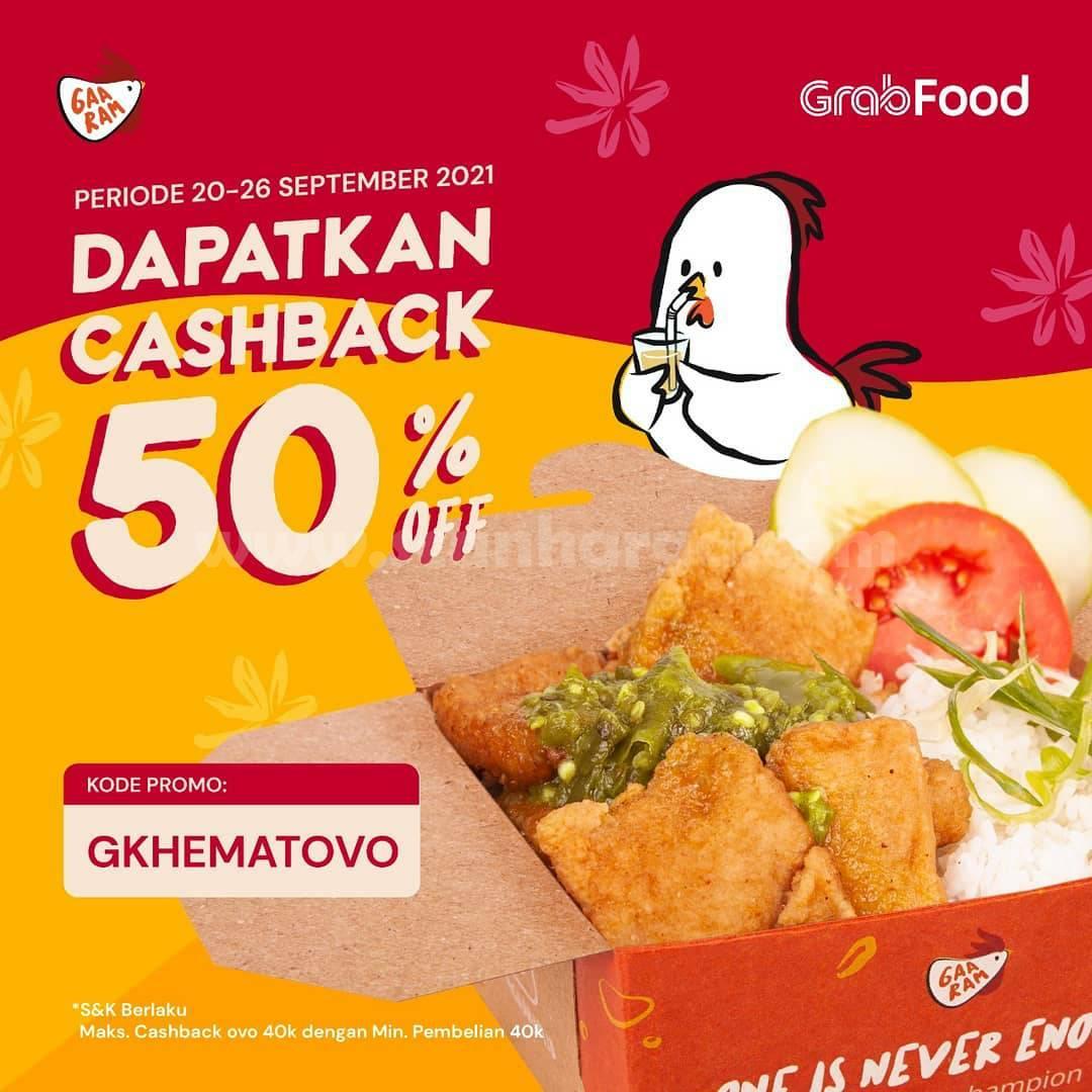 GAARAM Promo GRABFOOD - Dapatkan Cashback 50 Off*