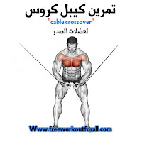 تمرين تضخيم عضلة الصدر بالكيبل