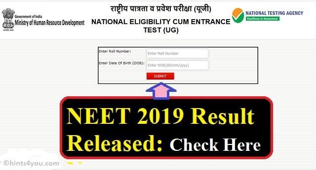 NEET Result 2019: