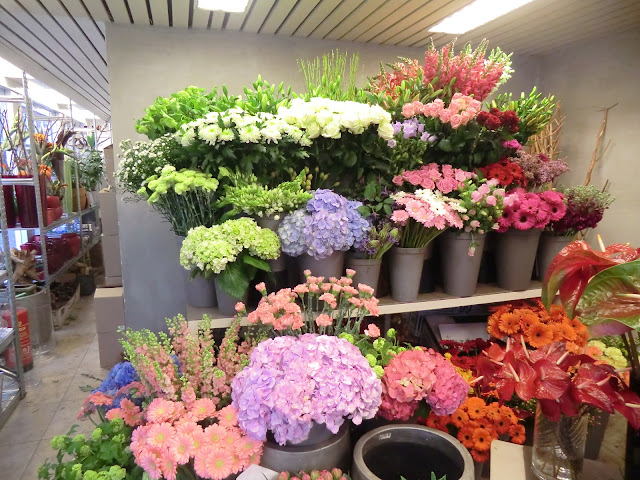 fresh blooms in Dutch Floral shop