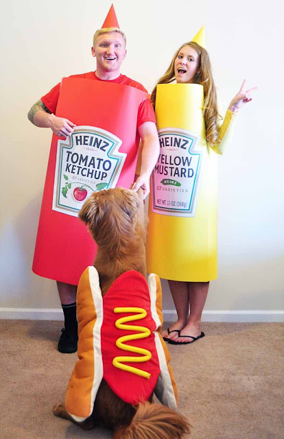 disfraz de ketchup y mostaza