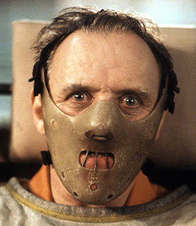 Anthony Hopkins, Hannibal Lecter, wearing the famous Lecter mask