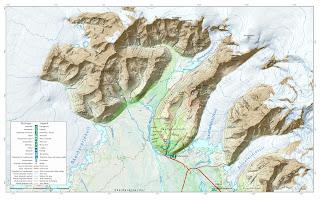 Mapa 2 del Parque Nacional Skaftafell.